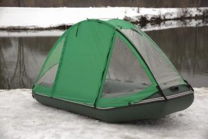 Фото тента-палатки на лодку Аква 2800