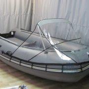 Фото носового тента прозрачный на лодку Муссон 3200 СК кмф