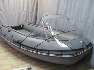Носовой тент прозрачный на лодку Муссон 3200 СК кмф