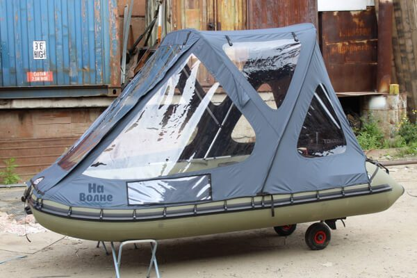 Фото Тент-трансформер на лодку Пиранья 320 Q5 SLХ